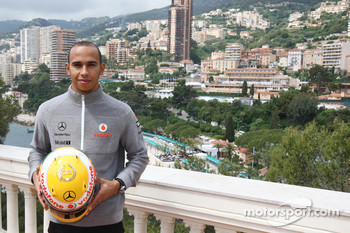 Lewis Hamilton, McLaren Mercedes with Monaco editiion helmets and steering wheels with Steinmetz Diamonds