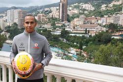 Lewis Hamilton, McLaren Mercedes with Monaco editiion helmets and steering wheels with Steinmetz Diamonds