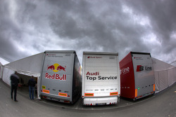 Audi Sport teams transporters