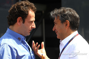 Matteo Bouciani, press officer for Jean Todt, FIA President and Pasquale Lattuneddu, FOM, Formula One Management