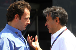 Matteo Bouciani, press officer for Jean Todt, FIA President and Pasquale Lattuneddu, FOM, Formula One Management