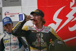 Danny Eslick drinks the ceremonial glass of wine