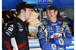 Brad Keselowski, Penske Racing Dodge and Kurt Busch, Penske Racing Dodge
