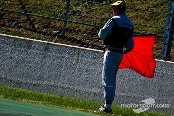 the race is red Flagged