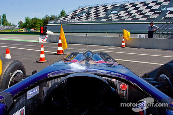 drivers eye view of Jean-Eric Vergne
