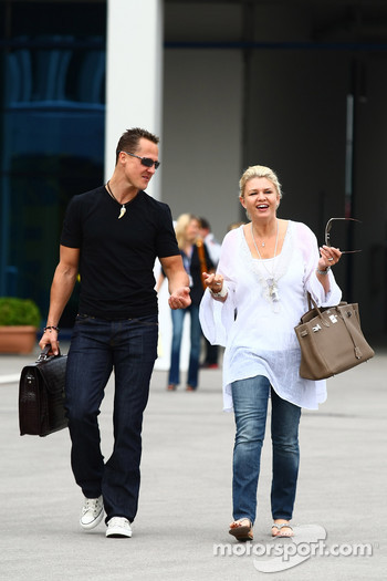 Michael Schumacher, Mercedes GP and Corina Schumacher, Corinna, Wife of Michael Schumacher