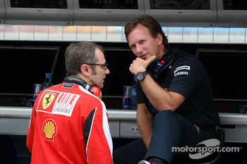 Stefano Domenicali Ferrari General Director, Christian Horner, Red Bull Racing, Sporting Director