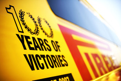 Pirelli 100 years of victory logo