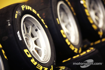 Pirelli tyre and logo