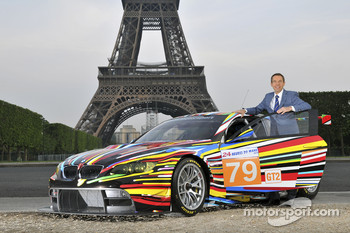Jeff Koons and the 17th BMW Art Car at Tour Eiffel in Paris