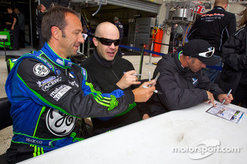 Marco Werner, Marino Franchitti and David Brabham