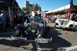 Excalibur cars at the start of the parade