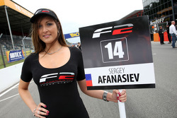 F2 grid girl for Sergey Afanasiev