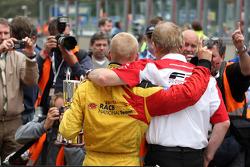 Jonathan Palmer, CEO MotorSport Vision, with Benjamin Bailly