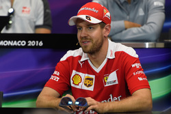 Sebastian Vettel, Ferrari in the Drivers Press Conference