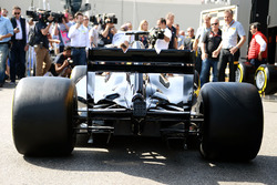 Pirelli reveal a mock up of what a 2017 F1 car and tyres may look like