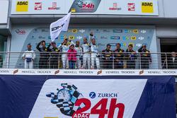 Podium: Sieger #4 AMG-Team Black Falcon, Mercedes-AMG GT3: Bernd Schneider, Maro Engel, Adam Christodoulou, Manuel Metzger, Platz zwei, #29 AMG-Team HTP Motorsport, Mercedes-AMG GT3: Christian Vietoris, Marco Seefried, Christian Hohenadel, Renger Van der Z