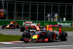 Max Verstappen, Red Bull Racing RB12 leads Sebastian Vettel, Ferrari SF16-H and Daniel Ricciardo, Red Bull Racing RB12