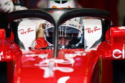 Sebastian Vettel, Ferrari SF16-H, mit Halo 2