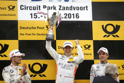 Podium: Race winner Robert Wickens (CAN) Mercedes-AMG Team HWA, Mercedes-AMG C63 DTM; second place Marco Wittmann (GER) BMW Team RMG, BMW M4 DTM; third place Christian Vietoris (GER) Mercedes-AMG Team Mücke, Mercedes-AMG C63 DTM