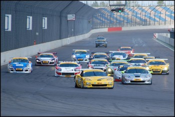 Start of Race 2, ADAC GT Masters EuroSpeedway 2009