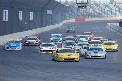 Start of Race 2, ADAC GT Masters EuroSpeedway 2009