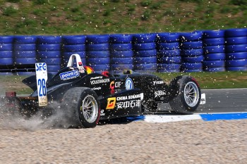 Luis Sa Silva spins, ATS Formel 3 Cup Oschersleben I 2010