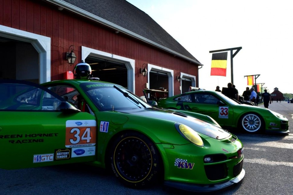 ALMS testing at VIR - GTC garages