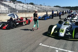 Ellie paces out the IMSA Lights pre race grid
