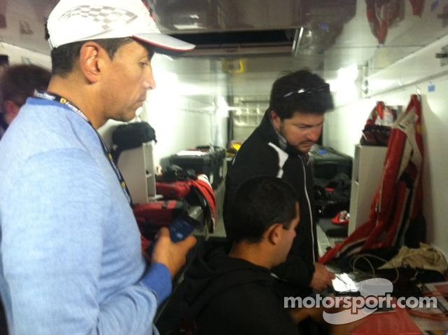 Carlos Gomez & Carlos Kauffmann with AGM engineer Travis Low