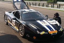John Farano's 458 cools down after a hot practice session.