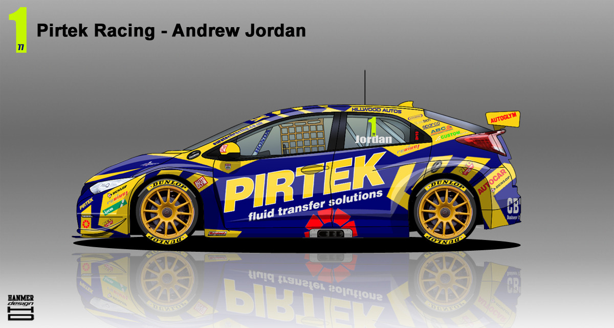 Pirtek Racing Honda Civic BTCC 2014