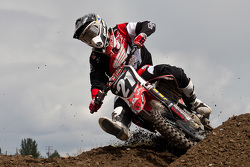Honda's Jeremy Medaglia #21 rounds the corner looking to secure his spot