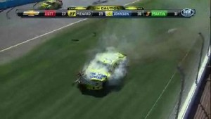 Big Wreck On Backstretch - Phoenix International Raceway 2011