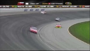 Stewart Takes the Checkered Flag - Chicagoland Speedway 2011