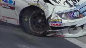 Ken Schrader Goes Into The Wall - Food City 500 - Bristol - 2012