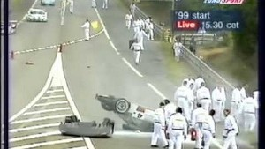 1999 - Le Mans - Aftermath of Mark Webber's warm-up accident