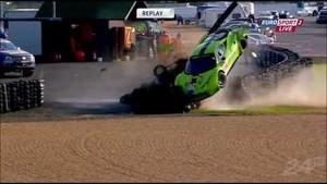 24 Hours of Le Mans Tracy Krohn Huge Crash