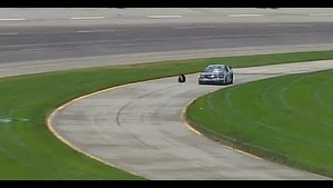 Denny Hamlin's tire bounces onto track | NASCAR Kentucky Quaker State 400