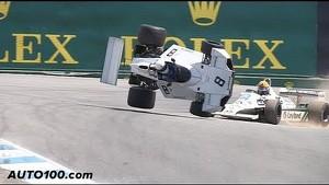 Spectacular F1 crash at Laguna Seca in slow motion