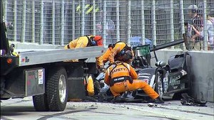 Massive crash at the start of the 2013 Grand Prix of Baltimore