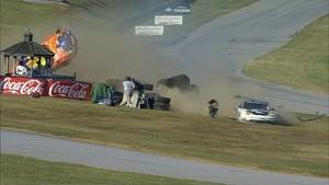 Porsche goes airborne at VIR! Massive crash