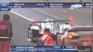 Lucas Di Grassi crash WEC 2014 Silverstone