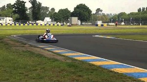 Karting event during the test days