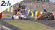 Le Mans 2014: Porsche No. 79 crashes during the qualifying session #2