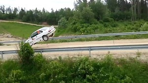 BMW Rally Car Gets Serious Air During Race