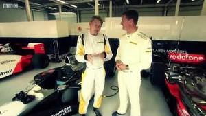 BBC F1 2013: David Coulthard and Mika Häkkinen Drives McLaren Championship Winning Cars