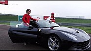Kimi Raikkonen goes crazy with a Ferrari F12 at Fiorano