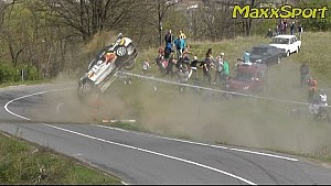 Best of rally crashes from from Poland and Czech Republic