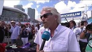 Miami ePrix - Sir Richard Branson grid interview
